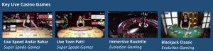 pure casino live games