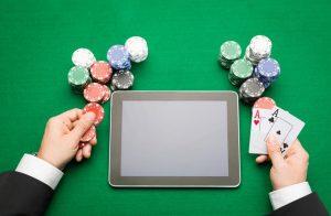 Online gambling concept.