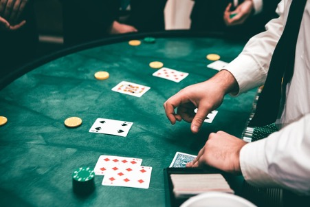 online gambling at a live casino