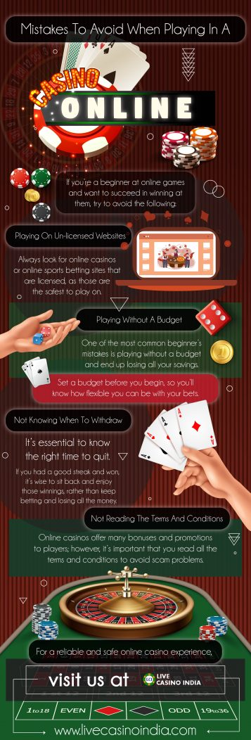 Mistakes to avoid when playing at a casino online